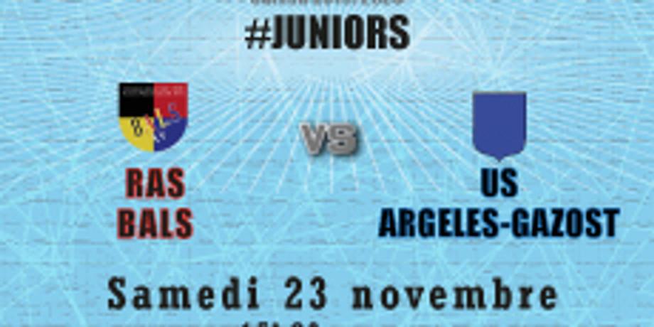 #Juniors : Bals vs US Argelès-Gazost