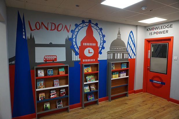 parkview school library london mural
