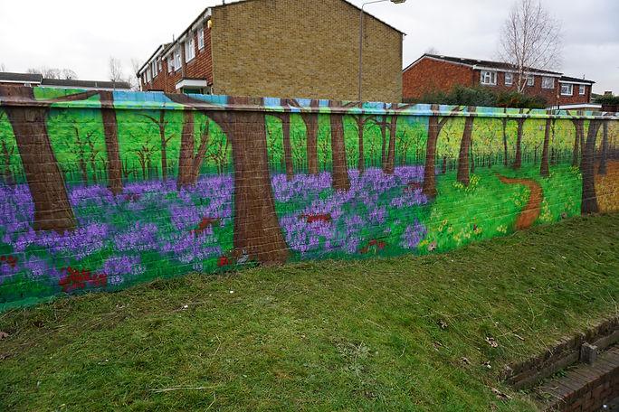 four seasons Woodland mural