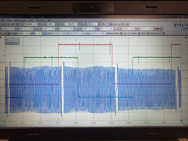 Camshaft and crankshaft correlation waveform captured with a 4 channel pico oscilloscope