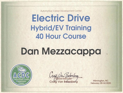 ACDC Training certificate 40 hours cropp