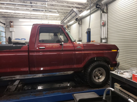 1978 Ford F250 that we have done the automotive repairs on for years