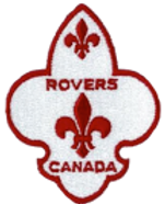 Rovers Section Badge scouts canada