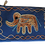 "Thumbnail: Kosmetiktasche groß ""Elefant blau"""