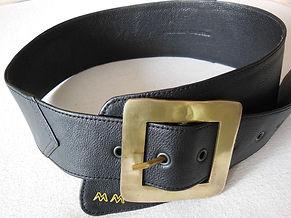 Custom-made leather belt
