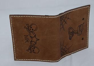 Custom-made tattoo-style wallet