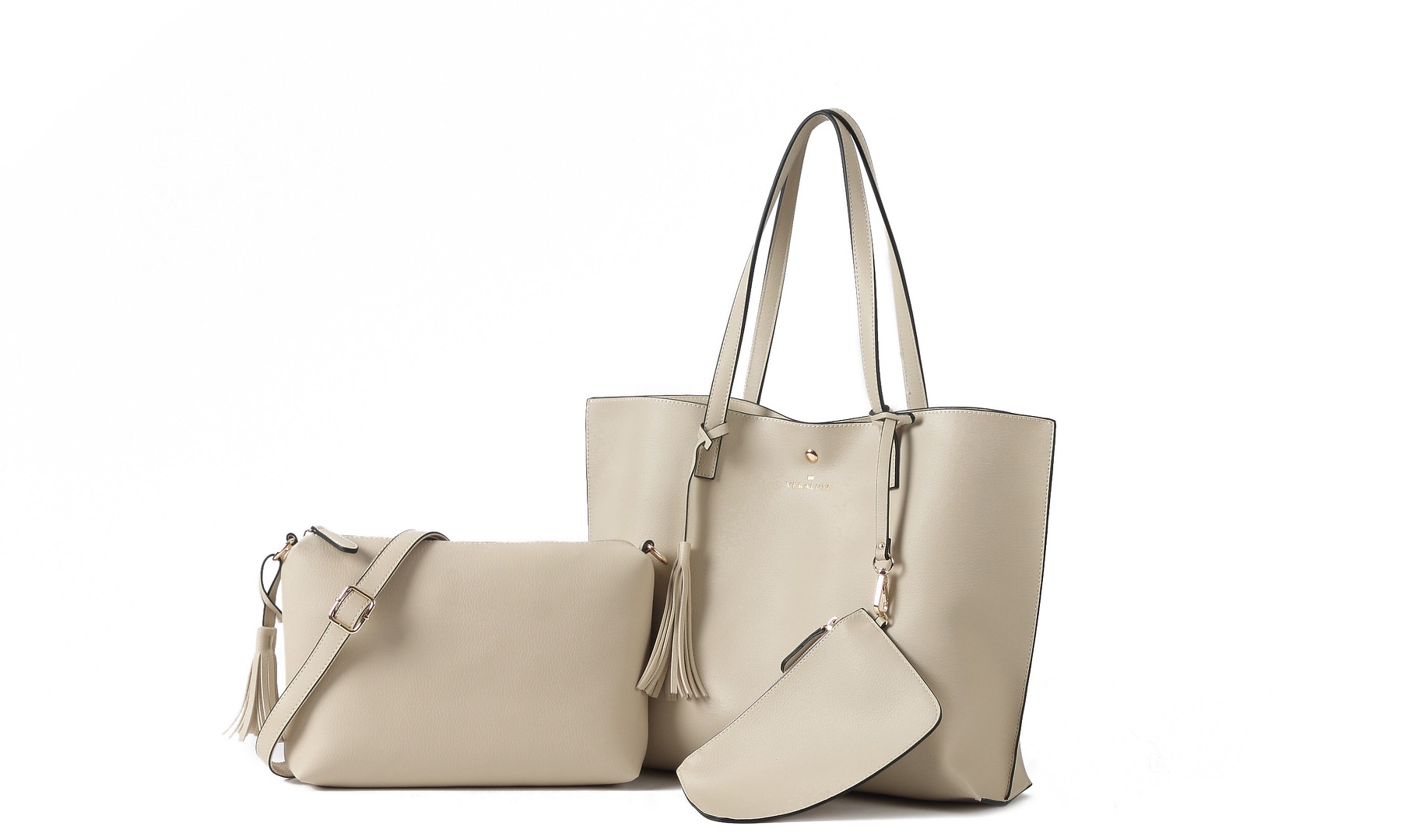 The Thea Tote Set - Taupe