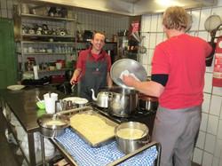 Vorbereitung in der Küche