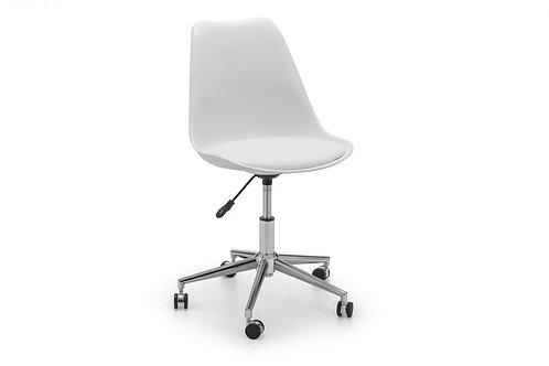 Erika Office Chair - White/Chrome