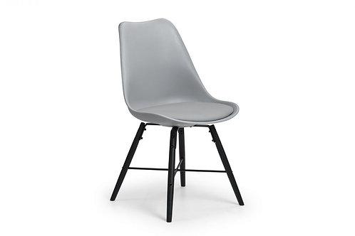 Kari Dining Chair - Grey & Black