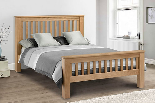 Amsterdam Oak Bed - High Foot End - Double