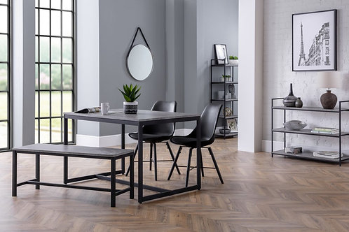 Staten Bench & Kari Black Dining Set