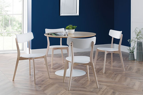Blanco White/Oak & Casa Dining Set