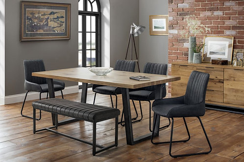 Brooklyn & Soho Dining Set - Bench & 4 Chairs