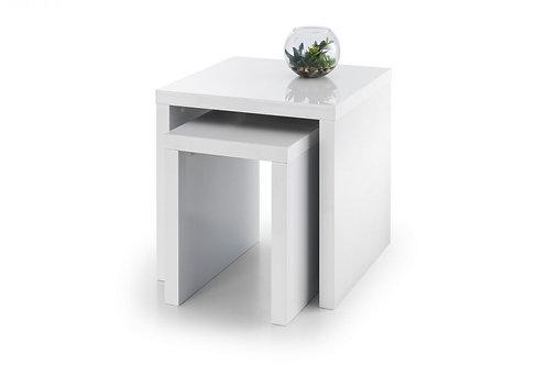 Metro High Gloss Nest of Tables - White