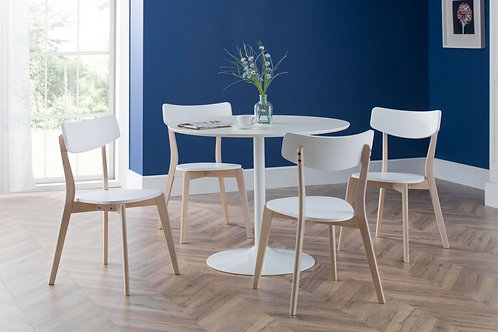 Blanco White & Casa Dining Set