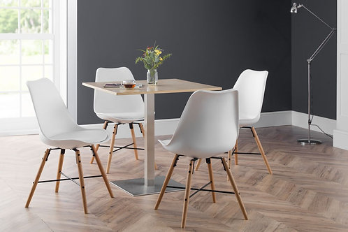 Pisa Oak & Kari White Dining Set