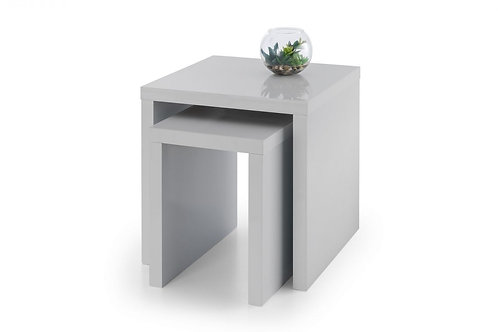 Metro High Gloss Nest of Tables - Grey
