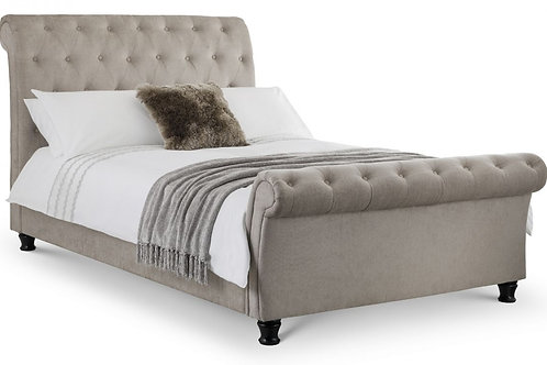 Ravello Deep Button Scroll Bed - Double