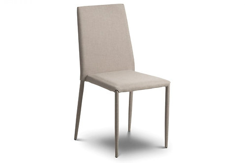 Jazz Fabric Dining Chair Sand Linen