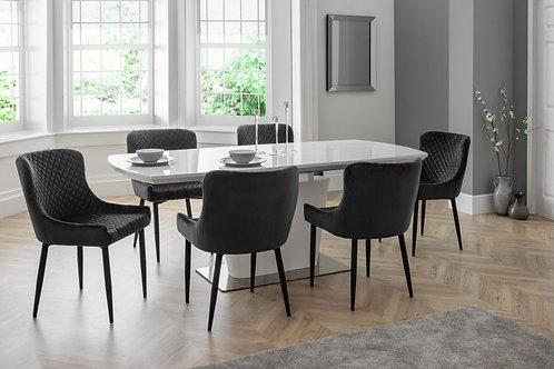 Como & Luxe Grey Dining Set