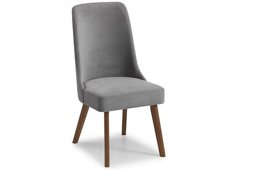 Huxley Chenille Dining Chair - Dusk Grey