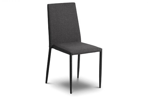 Jazz Fabric Dining Chair Slate Grey