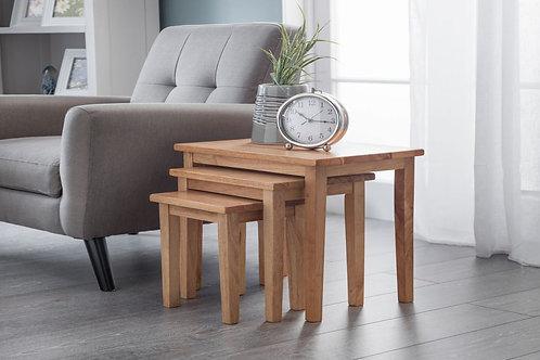 Cleo Nest of Tables - Light Oak Finish