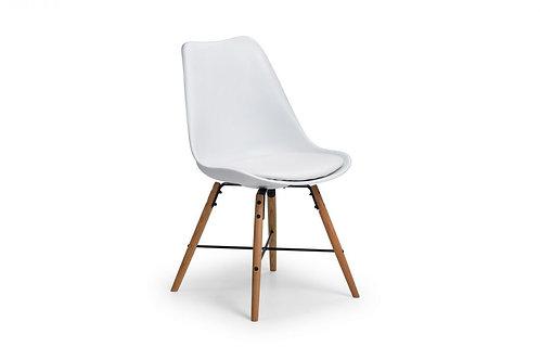 Kari Dining Chair - White & Oak