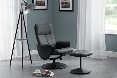 Lugano Recliner & Stool