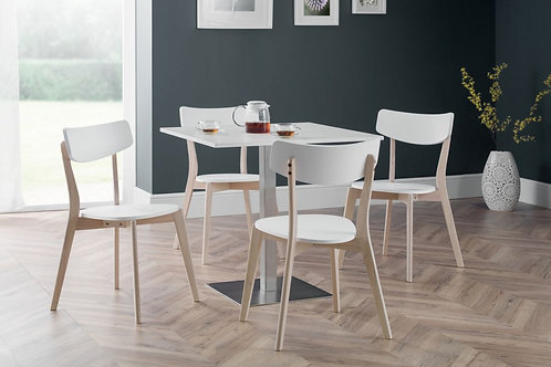 Pisa White & Casa Dining Set