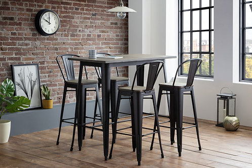 Grafton Bar Set (4 Stools)