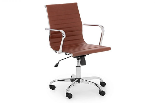 Gio Office Chair - Brown & Chrome
