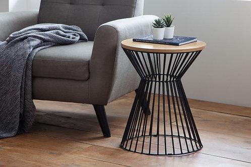 Jersey Round Wire Lamp Table - Oak