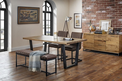 Brooklyn Dining Set - Upholstered Bench & 2 Chairs