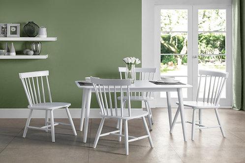 Torino White Dining Set