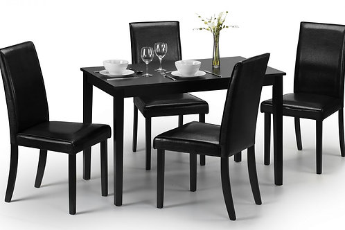 Hudson Black Dining Set