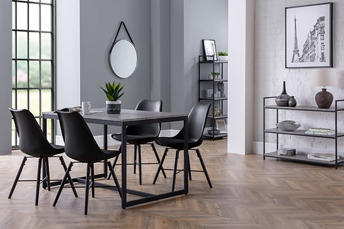 Staten & Kari Black Dining Set