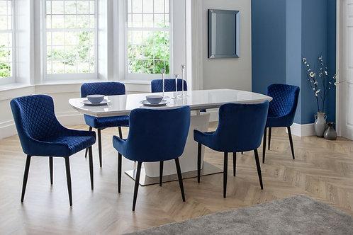 Como & Luxe Blue Dining Set