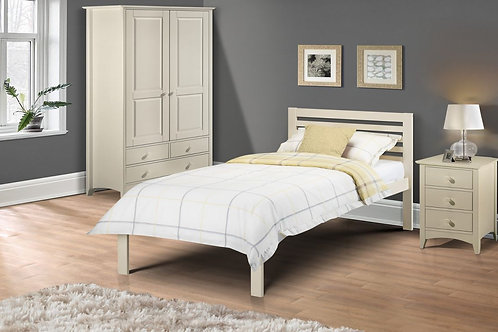 Slocum Bed - Stone White - Single