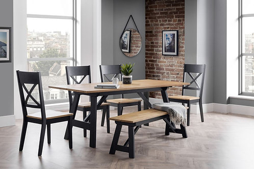 Hockley Dining Set (Bench & 4 Chairs)
