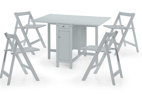 Savoy Dining Set - Light Grey