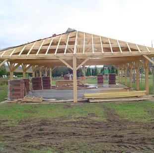 Fabrication auvent en bois