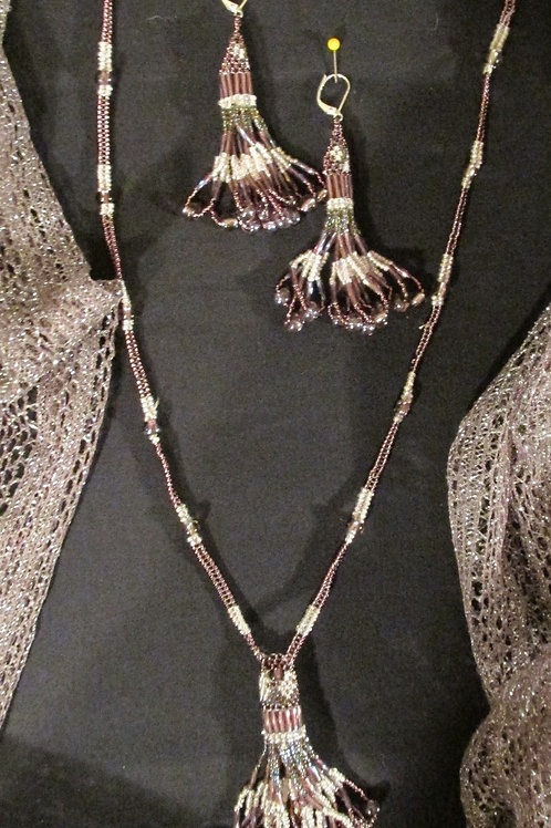Beige Beaded Ceremonial set