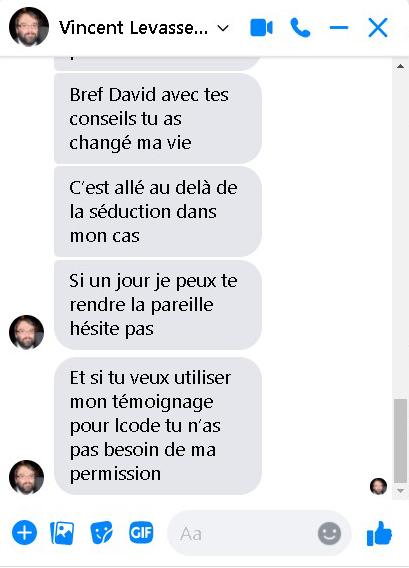 Vincent levasseur- témoignage approuvé