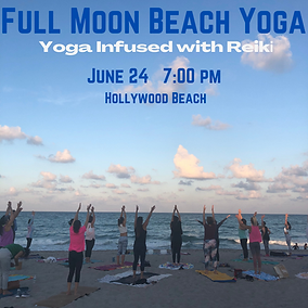 Full Moon Beach Yoga Infused with Reiki.