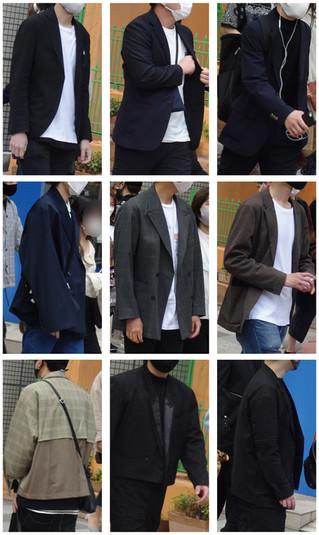 テーラードジャケットのコーディネート【拡大】2021/4/5