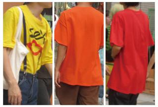 カラーTシャツ【登場】