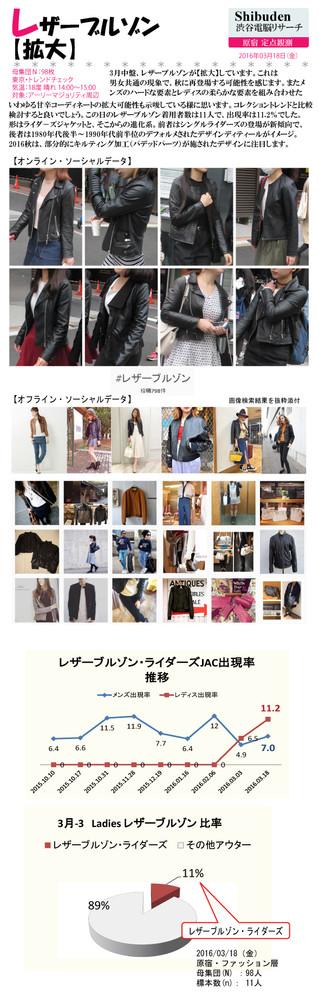 レザーブルゾン【拡大】2016/03/23