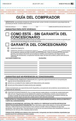 Formularios de guías de compradores españoles